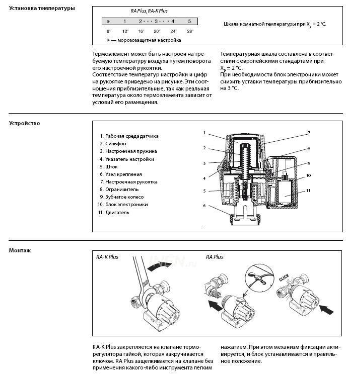 Danfoss терморегулятор - инструкция по монтажу и использованию