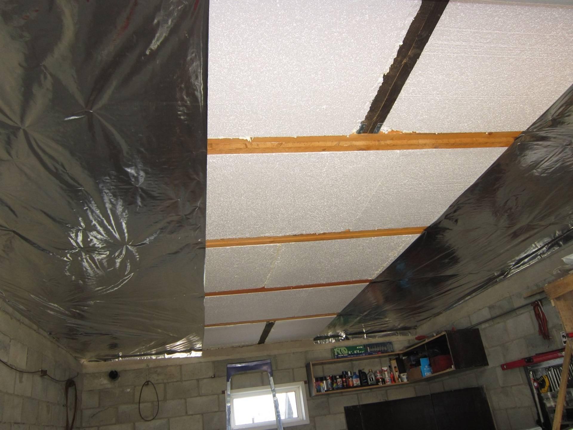 Утепление бетонного потолка изнутри: выбор материала, монтаж