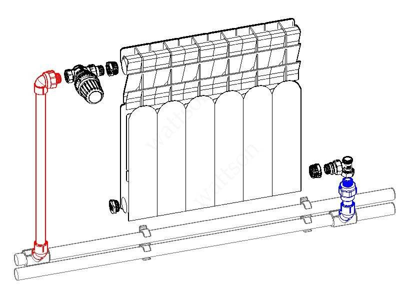 Подключение радиатора отопления к полипропиленовым трубам как подсоединить батареи, соединение, как соединить, присоединение радиаторов полипропиленом