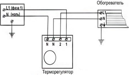 Как подключить инфракрасный обогреватель?