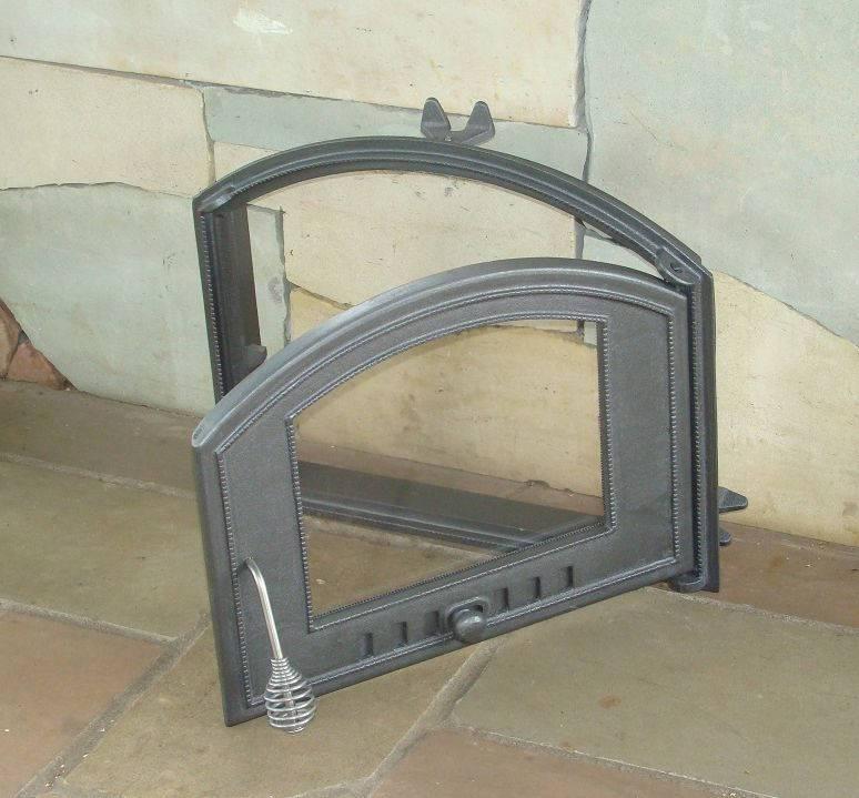 Дверца со стеклом для печи