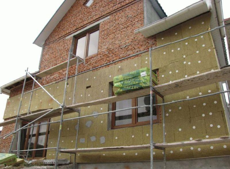 Утепление фасада дома минватой своими руками