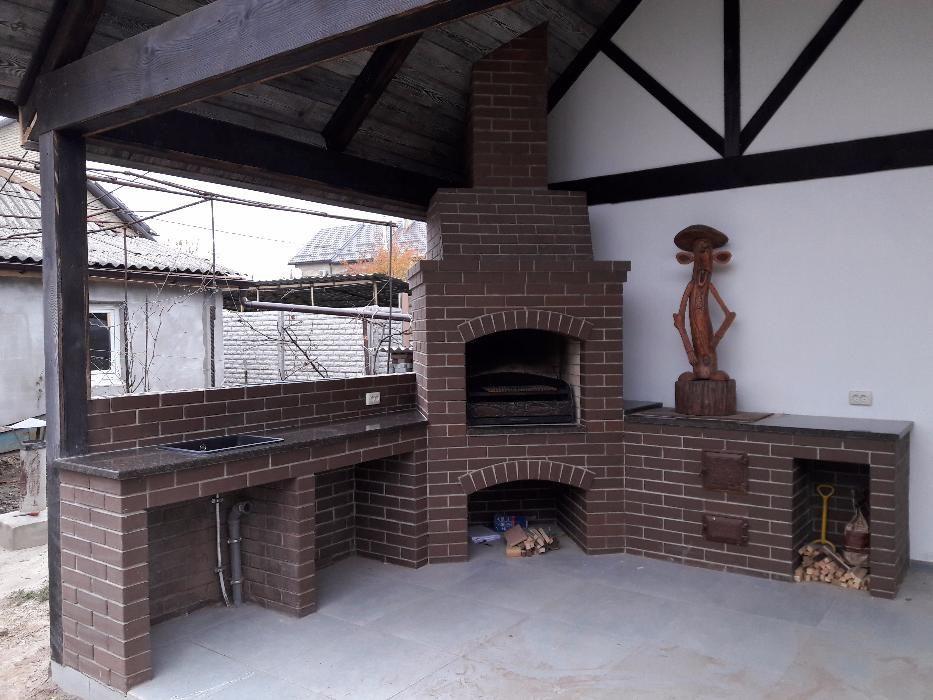 Уличная кухня камин, барбекю, мангал и печь на даче 20 фото