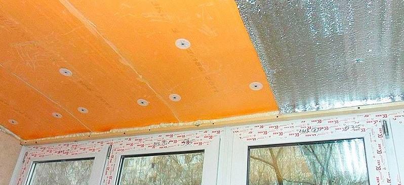 Делаем потолок на балконе своими руками