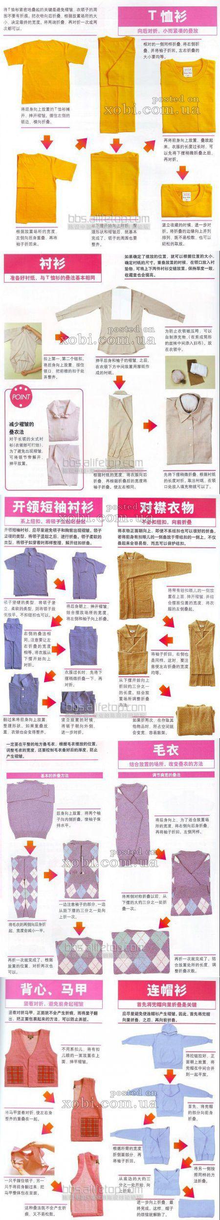 Как складывать джинсы правильно