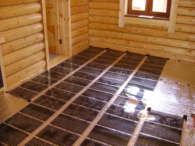 Строим теплый пол в бане