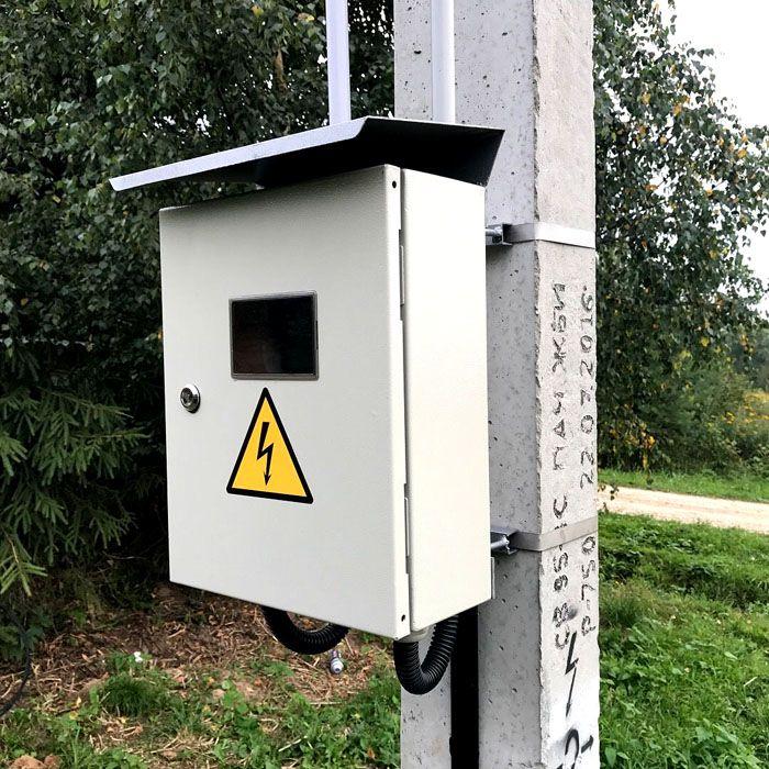 Как установить счетчик электроэнергии на столбе на улице - жми!