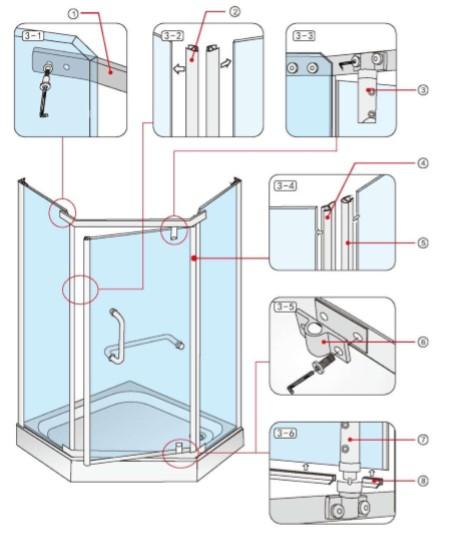 Установка душевой кабины: пошаговый обзор технологии монтажа от а до я