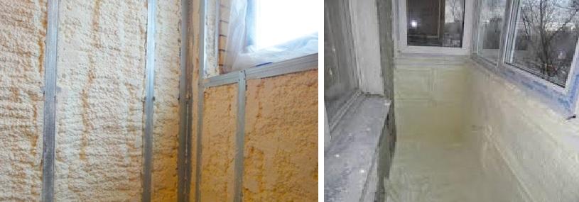 Как выполнить утепление балкона пенополиуретаном