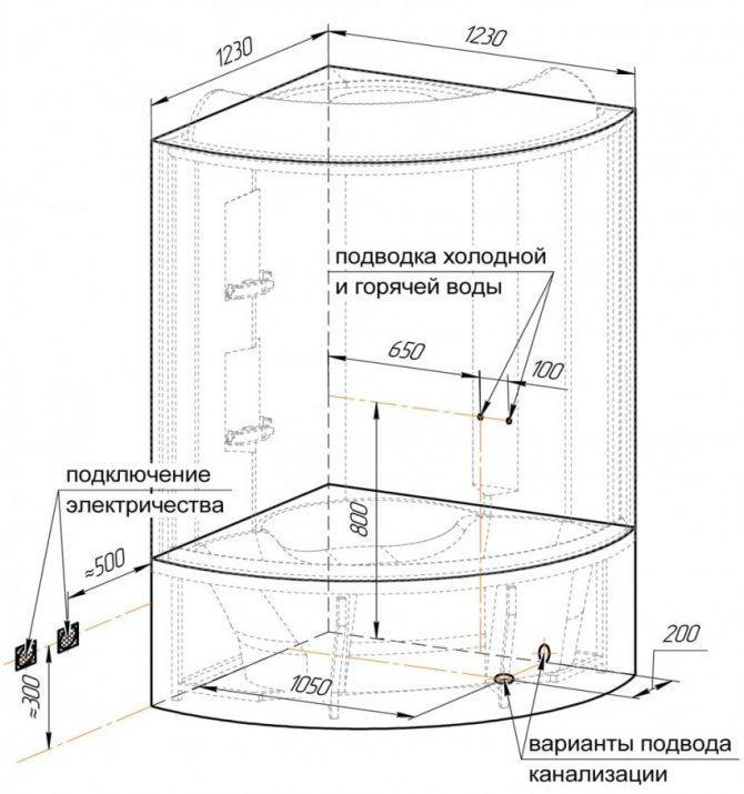 Установка душевой кабины своими руками: выбор места для установки душевой кабины в квартире или на даче