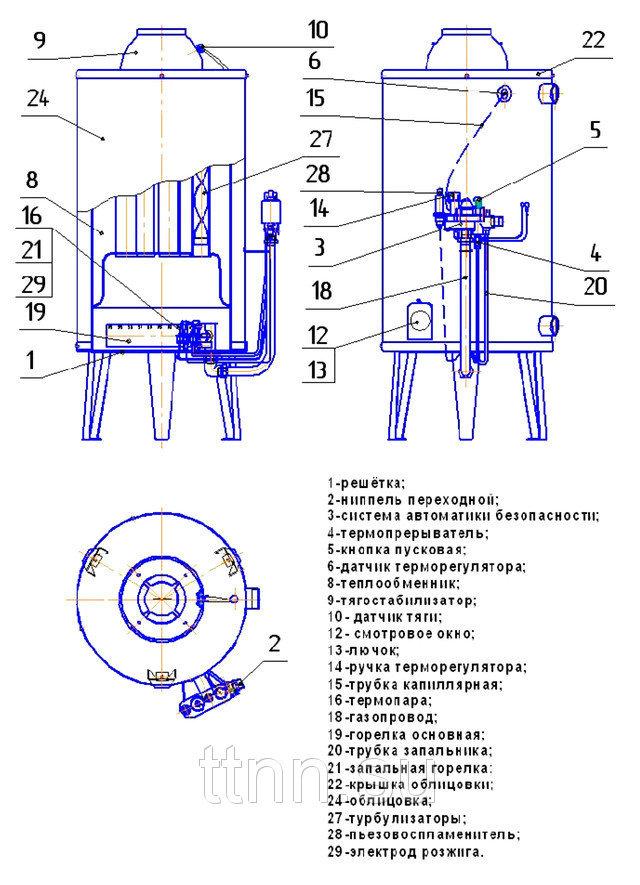 Газовый котел аогв технические характеристики