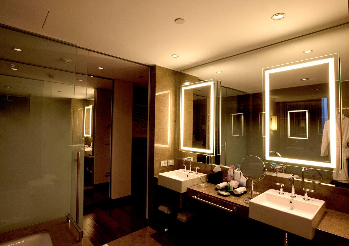 Освещение в ванной комнате: фото примеры, правила организации