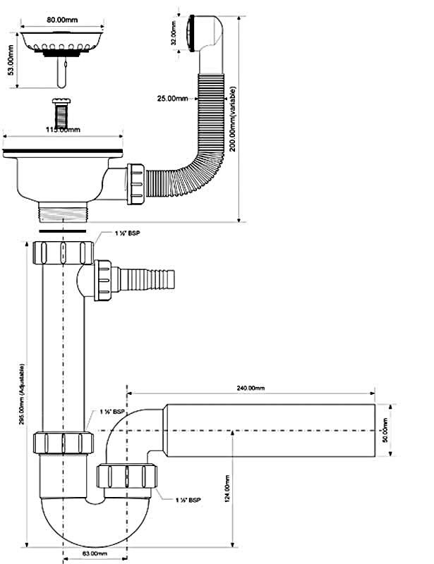 Как собрать сифон для раковины на кухне