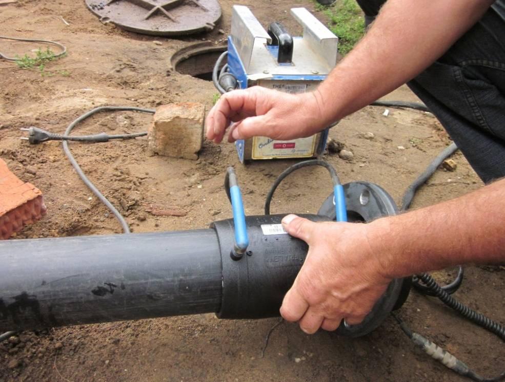 Монтаж полиэтиленовых труб — способы соединения и прокладки
