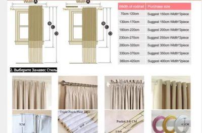 Сколько нужно ткани на шторы: как рассчитать расход? лучшие портьерные материалы и их характеристики