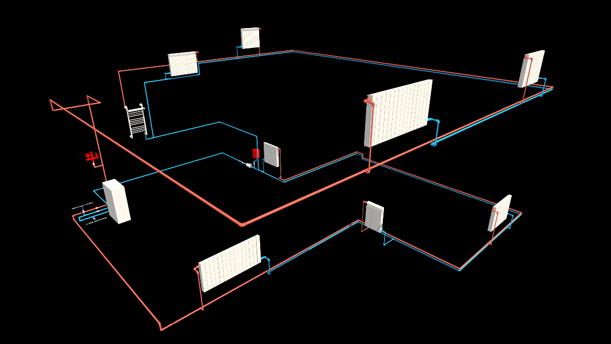 Схема отопительной системы для дома петли тихельмана