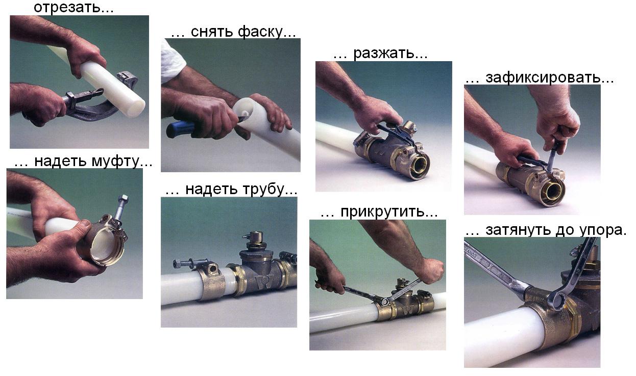 Технология монтажа и установки металлопластиковых труб своими руками