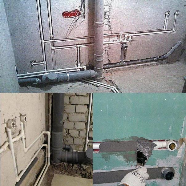 Крепление труб отопления к стене - система отопления