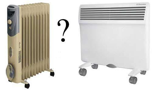 220 вольт - что лучше конвектор или масляный радиатор - отличие масляного радиатора от конвектора