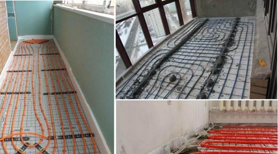 Как выбрать и своими руками установить тёплый пол на балконе