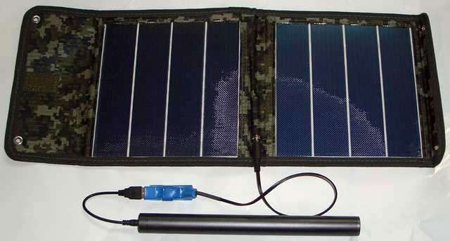 Солнечная батарея для телефона и ноутбука