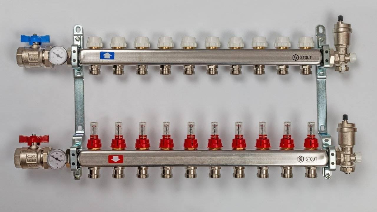 Распределительный коллектор отопления — «гребенка»