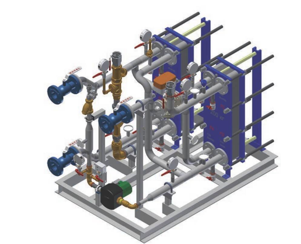 Расчёт и подбор — теплообменника гвс (горячего водоснабжения)