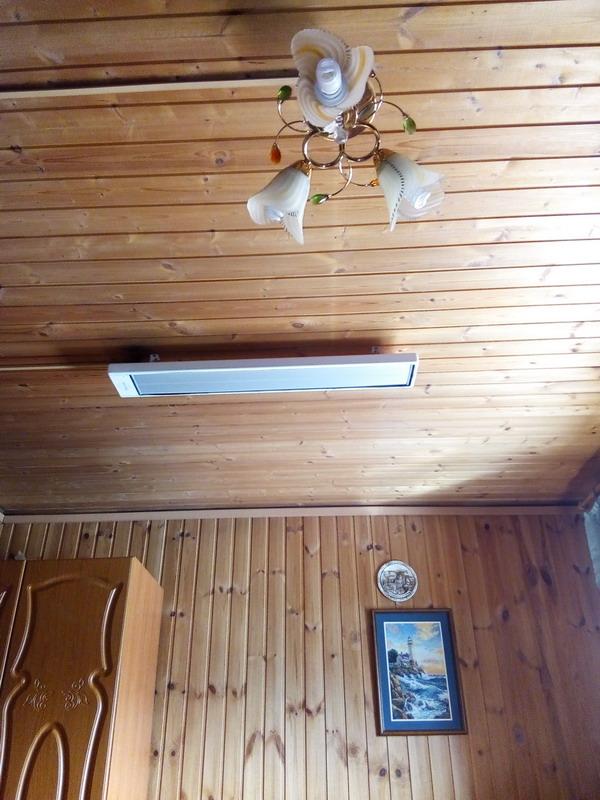 Как установить потолочный инфракрасный обогреватель эколайн -