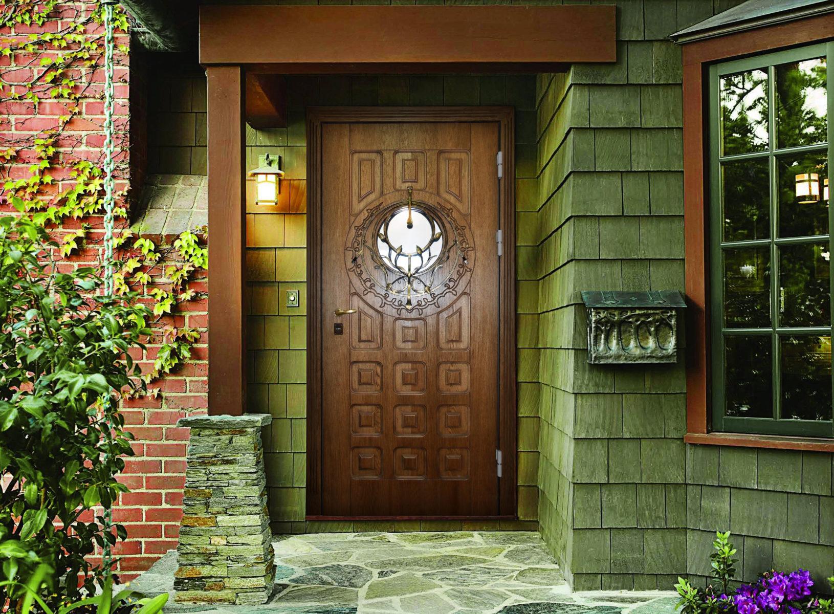 Входные деревянные двери для частного дома (43 фото): уличные теплые дубовые двери для загородного дома