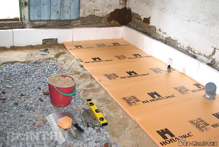 Как утеплить бетонный пол в частном доме: технологии, материалы