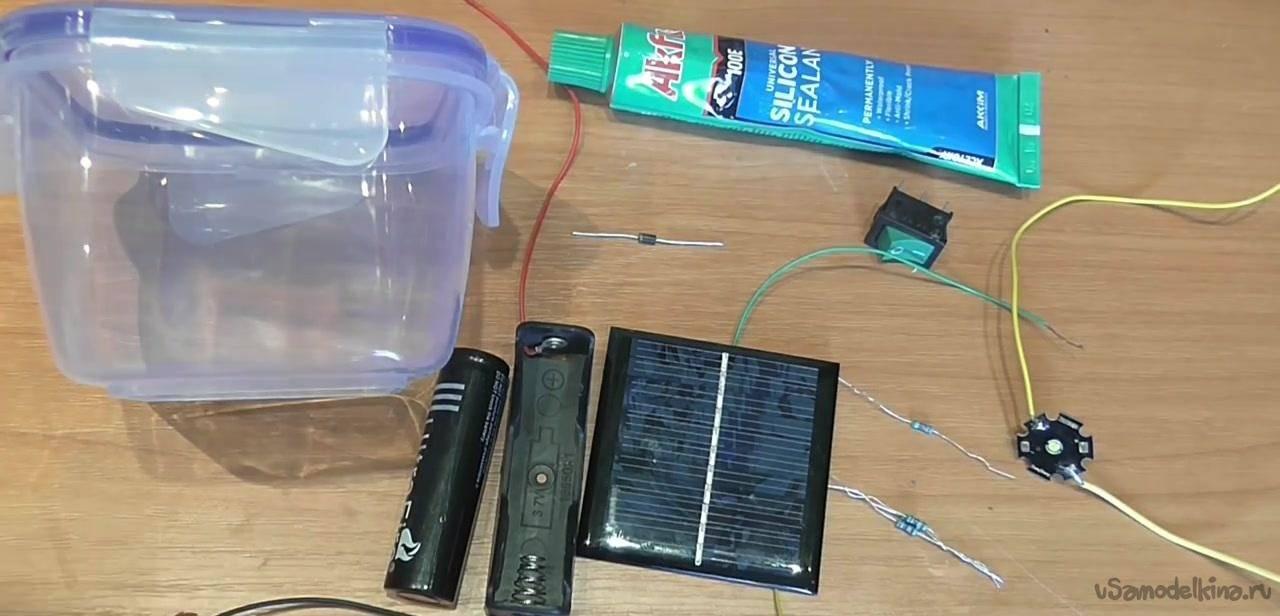Светильник на солнечных батареях для сада: советы по доработке и мастер-класс по сборке со схемой