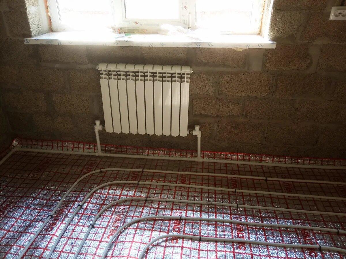 Как сделать теплый пол от центрального отопления в квартире