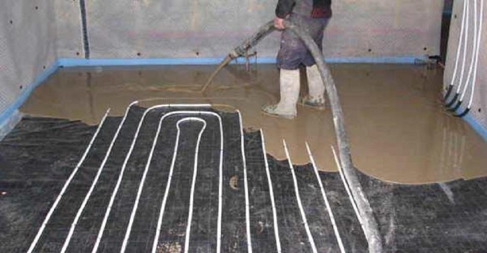 Стяжка для водяного теплого пола своими руками: толщина, минимальная высота, состав, устройство на фото и видео