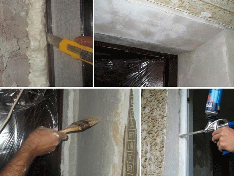 Как осуществить отделку откосов дверей