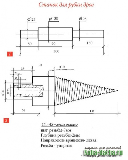 Дровокол своими руками - схемы и конструкции, рекомендации и советы по самостоятельному изготовлению приспособлений и механизмов