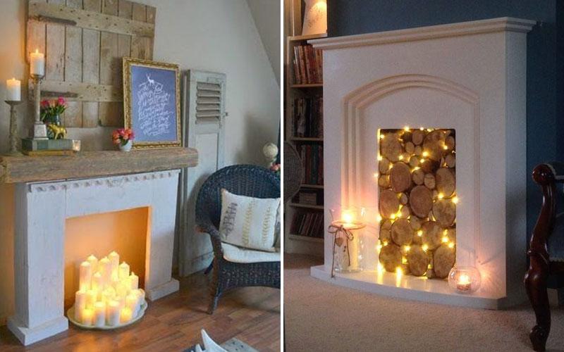 Декоративный новогодний камин своими руками: как сделать из коробок рождественский камин пошагово   все о рукоделии