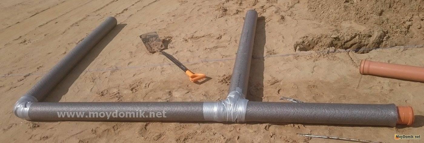 Утепление канализации: в каких случаях надо утеплять, как утеплить и какой утеплитель для наружной канализации использовать