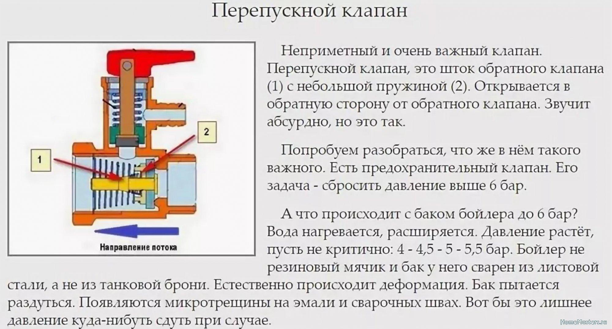 Предохранительный клапан для водонагревателя: устройство и принцип работы, инструкция по соединению с бойлером