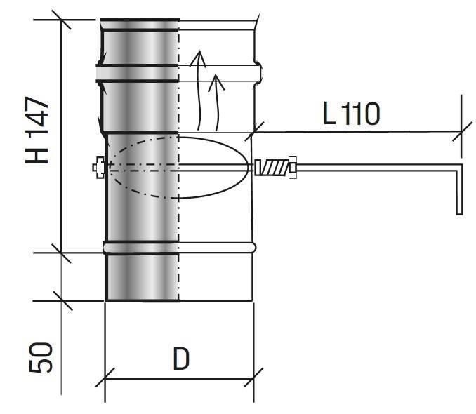 Как установить шибер для печного дымохода?