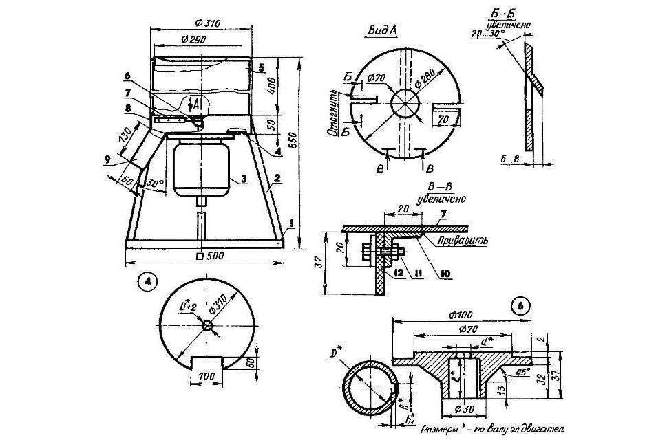 Садовый измельчитель веток своими руками: чертежи и инструкция
