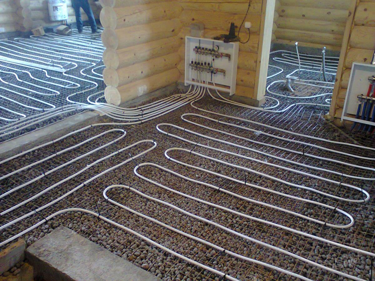 Устройство и монтаж водяных теплых полов в деревянном доме