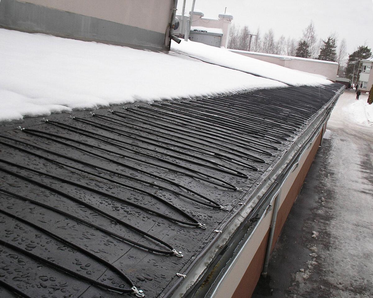 Обогрев кровли и водостоков: монтаж системы антиобледенения своими руками, установка кабеля для подогрева крыши
