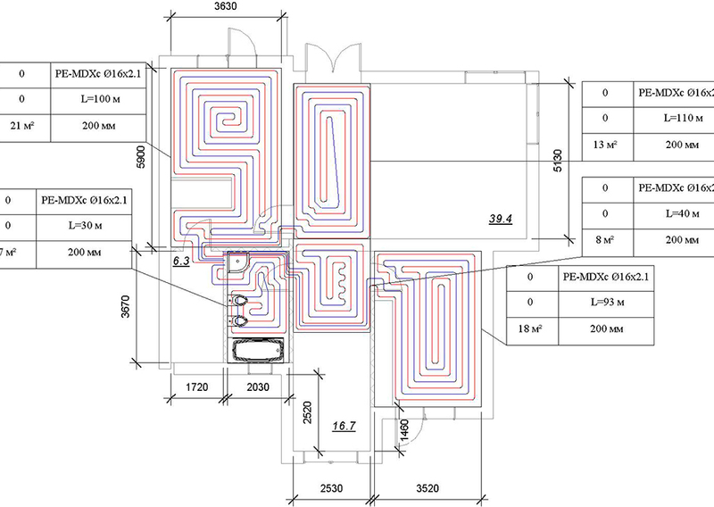 Проект теплого пола: как сделать самому проект отопления тёплыми полами, а также особенности монтажа