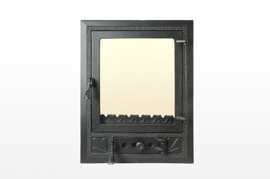 Дверки со стеклом для камина