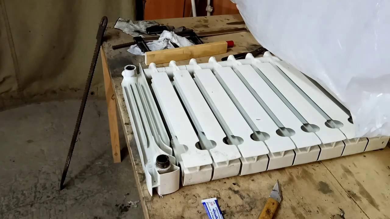 Ремонт алюминиевых радиаторов: батареи отопления, как отремонтировать устройство своими руками