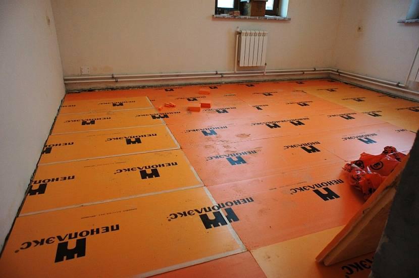 Утепление бетонного пола пеноплексом под стяжку