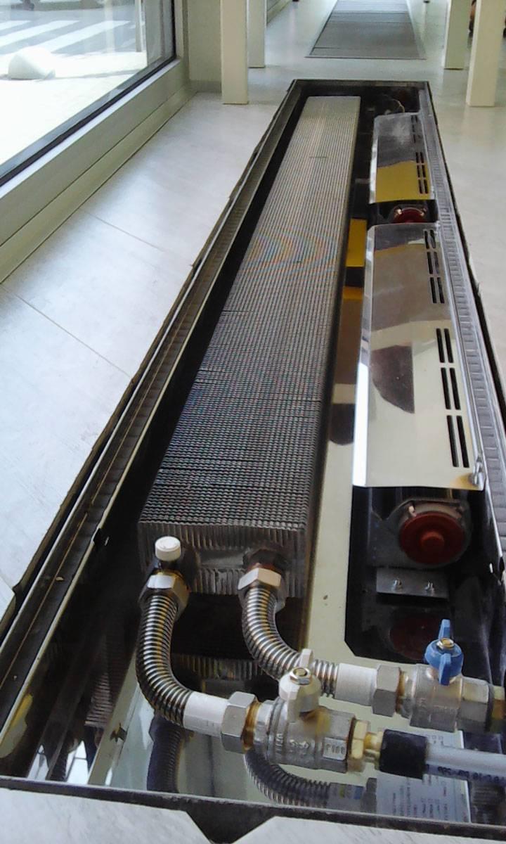 Монтаж внутрипольных конвекторов — выбор обогревателя, принцип установки