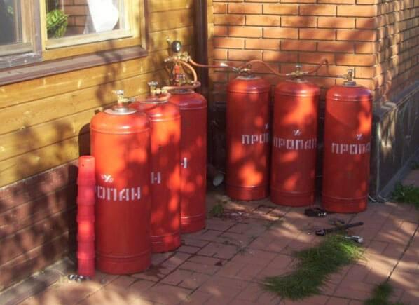 Правильное отопление дома газовыми баллонами