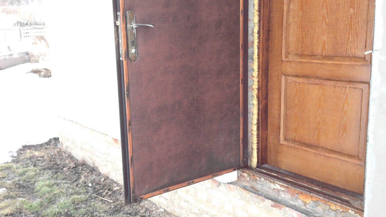 Как утеплить входную железную дверь: пошаговая инструкция, выбираем утеплитель, особенности утепления