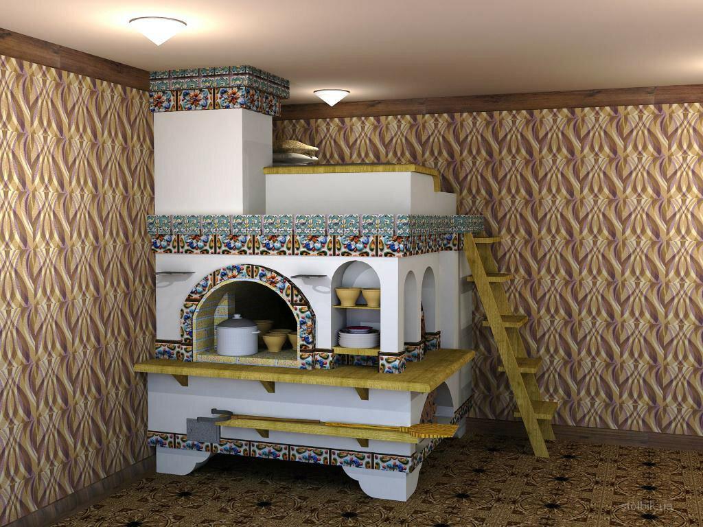 Великолепный симбиоз настоящего и прошлого! традиционная русская печь в современном интерьере